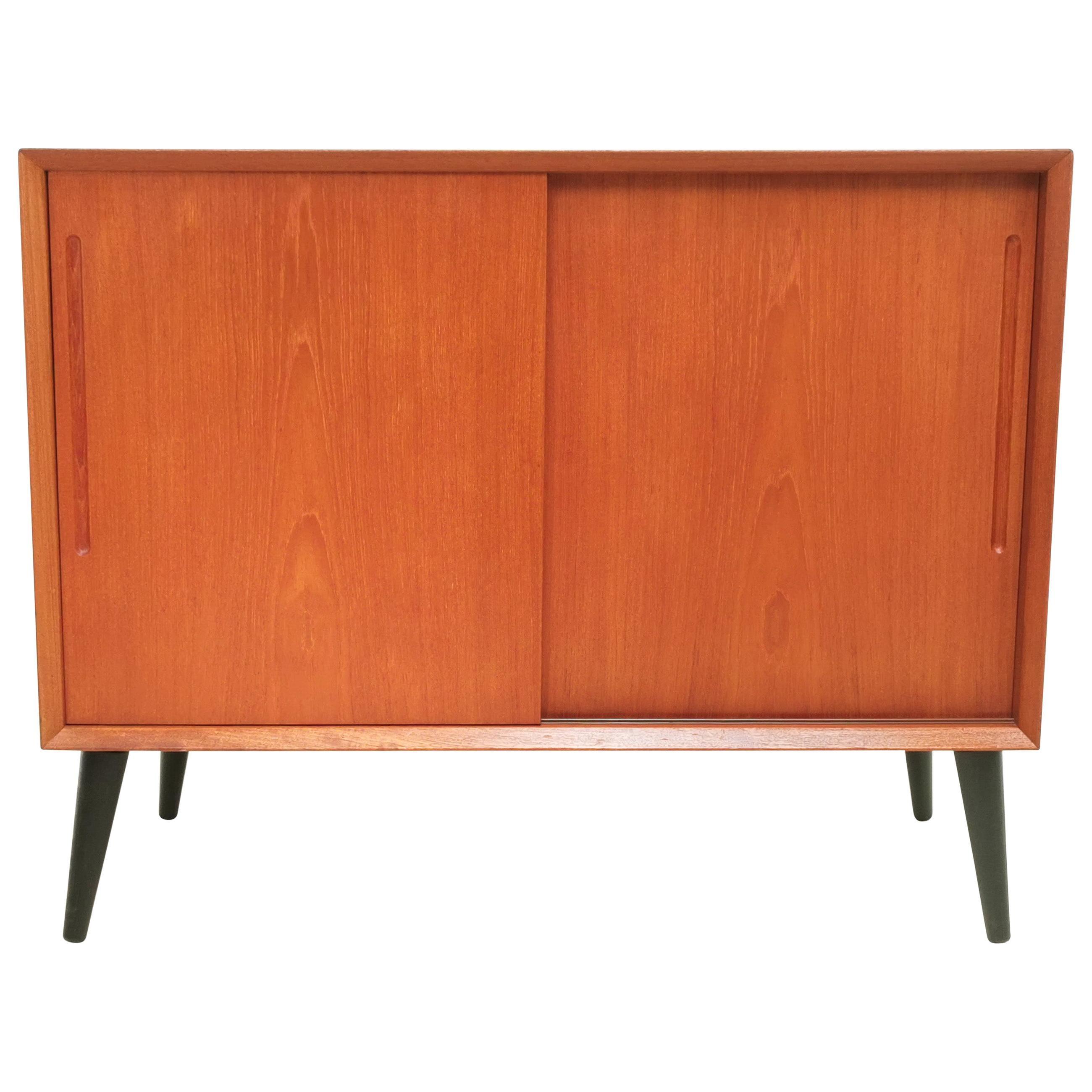 Danish Teak Sideboard Cabinet, Mid Century, 1970s