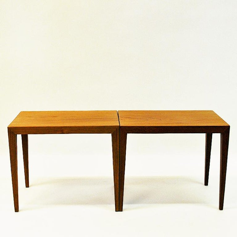 Danish Teak Sidetables by Severin Hansen, 1950s In Good Condition In Stockholm, SE