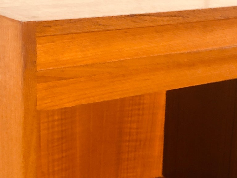 Danish Teak Single-Drawer Nightstand In Good Condition For Sale In Amherst, NH