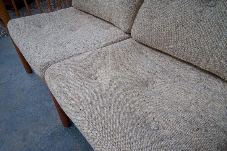 Danish Teak Spindle Back Sofa by Jorgen Baermark FDB Midcentury Cabin Rustic For Sale 6