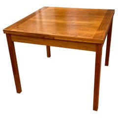 Danish Teak Square Table with Pull Out Leaves