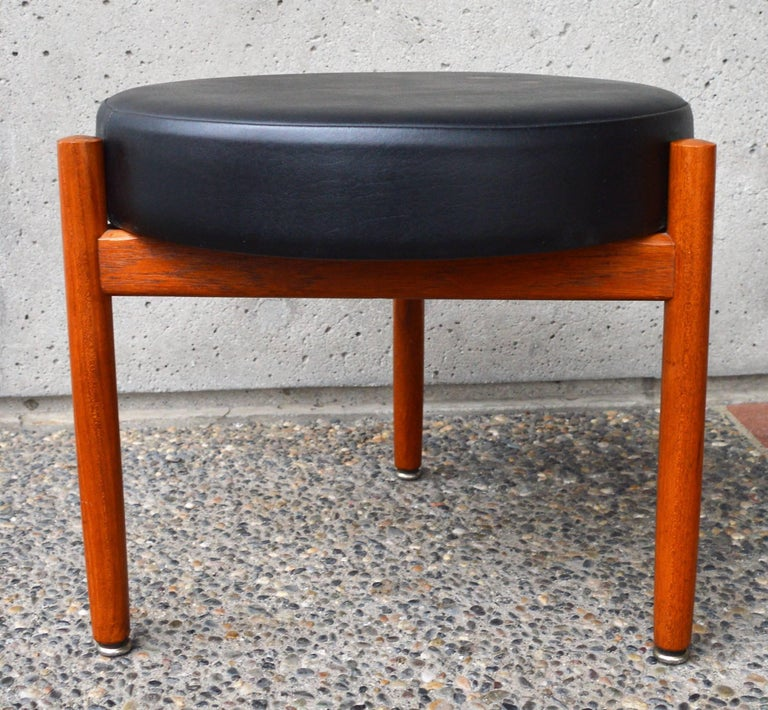 Danish Teak Stool or Table by Hugo Frandsen for Spottrup In Excellent Condition For Sale In New Westminster, British Columbia