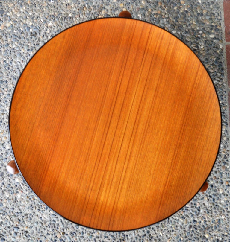 Mid-20th Century Danish Teak Stool or Table by Hugo Frandsen for Spottrup For Sale