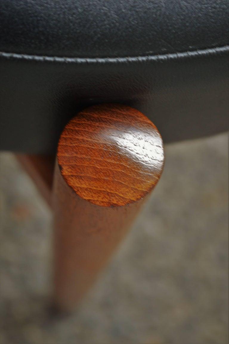 Upholstery Danish Teak Stool or Table by Hugo Frandsen for Spottrup For Sale