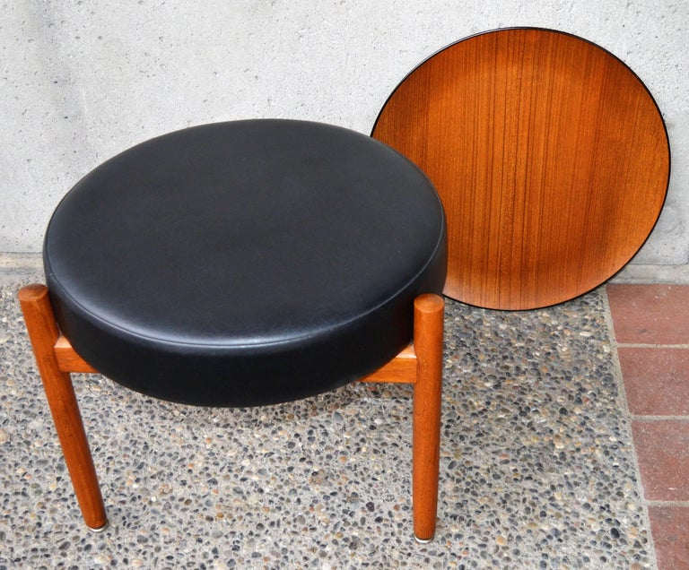 Danish Teak Stool or Table by Hugo Frandsen for Spottrup For Sale 2
