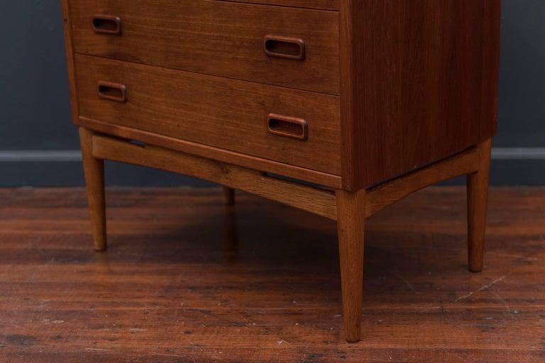 Danish Teak Tall Chest of Drawers For Sale 2
