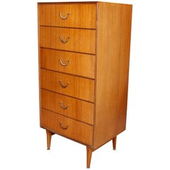 Danish Teak Tallboy Chest of Drawers