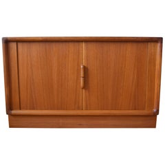 Danish Teak Tambour Door Sideboard. 1960s.