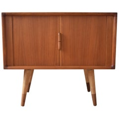 Danish Teak Tambour Door Sideboard, 1960s