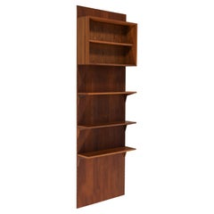 Danish Teak Wall Bookcase by Poul Cadovius 1 Side 1960s