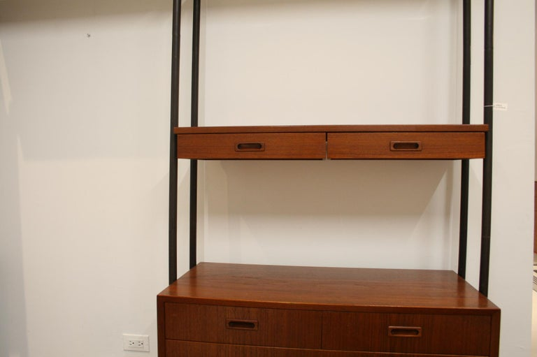 Danish Teak Wall System Attributed to Arne Vodder For Sale 5
