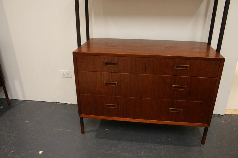 Danish Teak Wall System Attributed to Arne Vodder For Sale 6