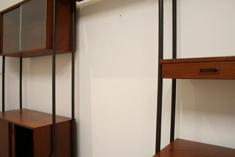 Danish Teak Wall System Attributed to Arne Vodder For Sale 7