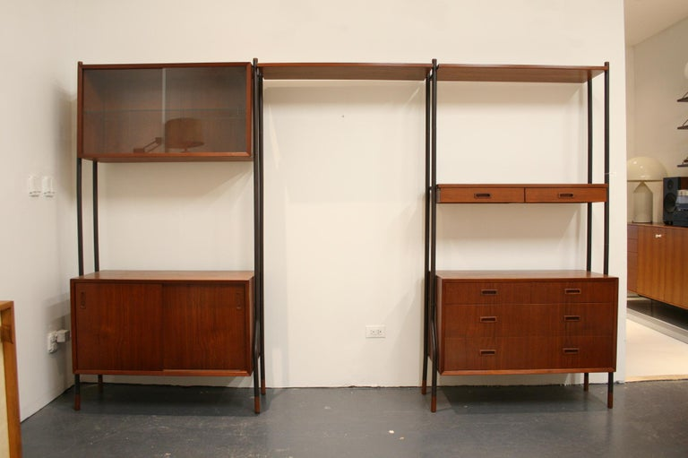 Danish Teak Wall System Attributed to Arne Vodder In Good Condition For Sale In Chicago, IL