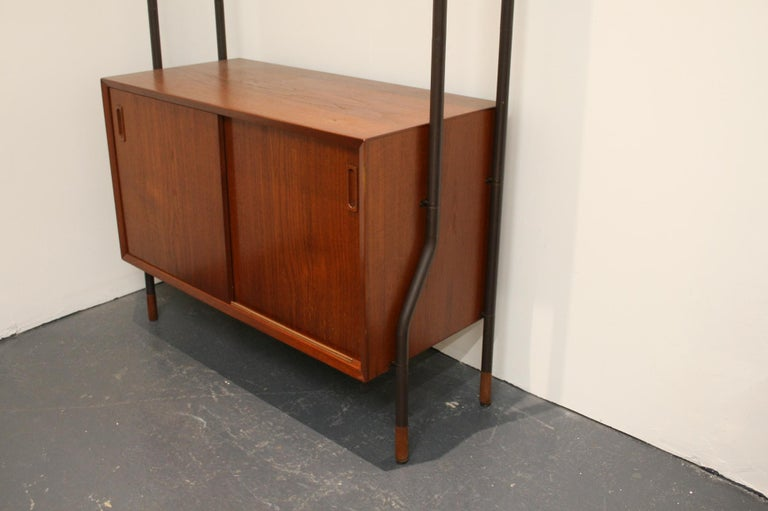20th Century Danish Teak Wall System Attributed to Arne Vodder For Sale