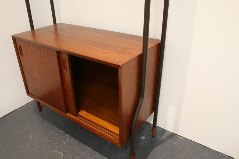 Danish Teak Wall System Attributed to Arne Vodder For Sale 1