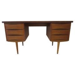 Danish Teak Wood Desk Arne Vodder Attribution
