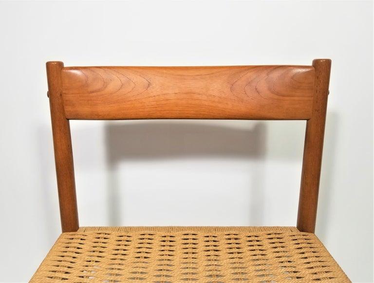 Danish Teak Woven Chair Midcentury For Sale 5