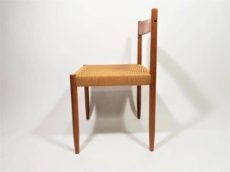Danish Teak Woven Chair Midcentury For Sale 6