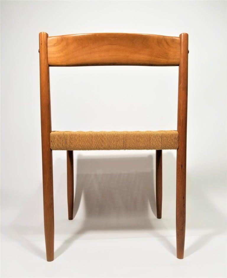 Danish Teak Woven Chair Midcentury For Sale 8