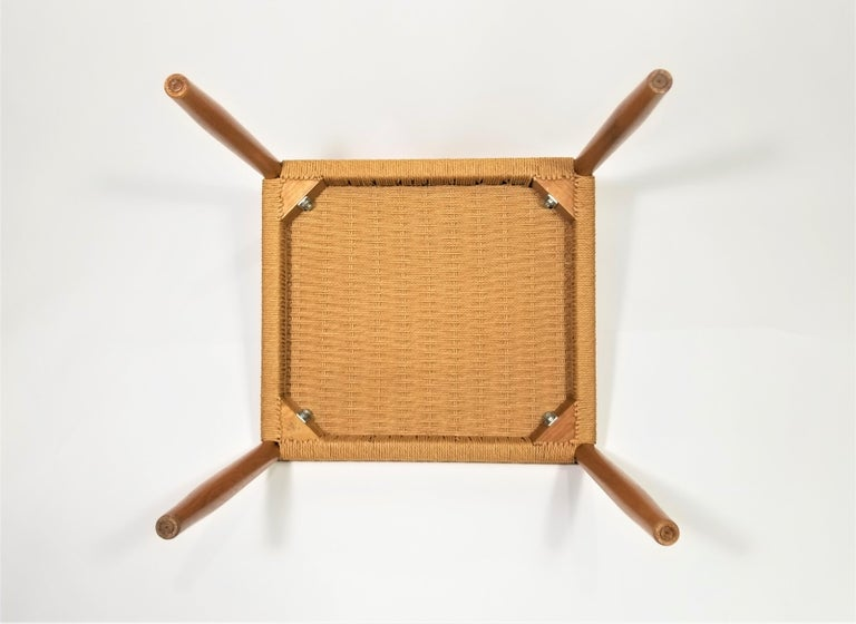 Danish Teak Woven Chair Midcentury For Sale 12