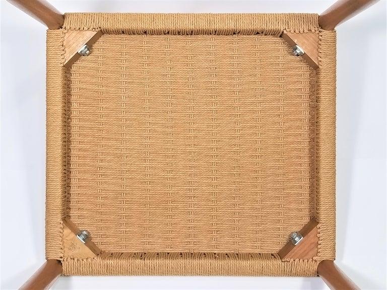 Danish Teak Woven Chair Midcentury For Sale 13