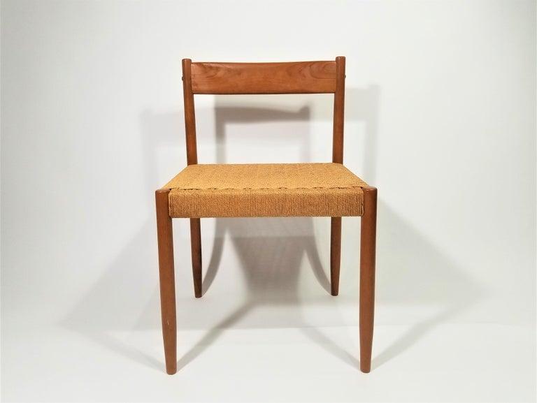 20th Century Danish Teak Woven Chair Midcentury For Sale
