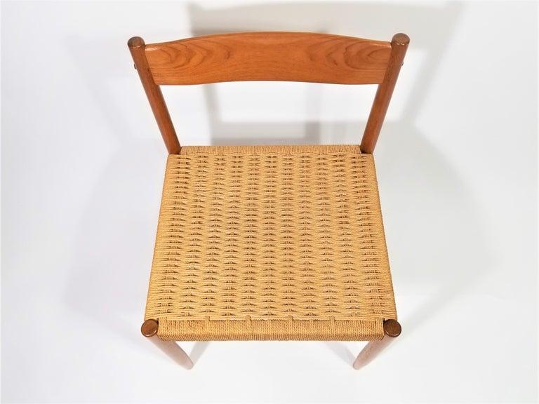 Danish Teak Woven Chair Midcentury For Sale 1