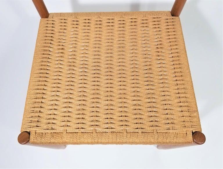 Danish Teak Woven Chair Midcentury For Sale 2