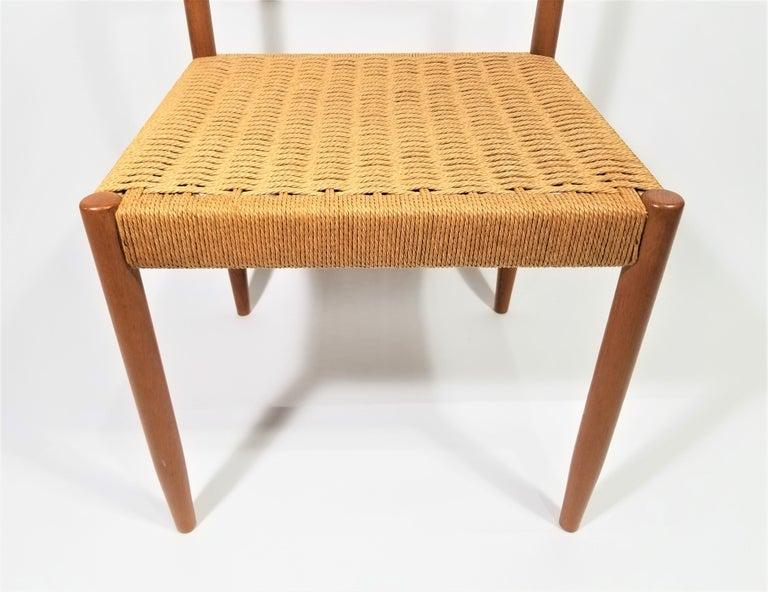 Danish Teak Woven Chair Midcentury For Sale 3