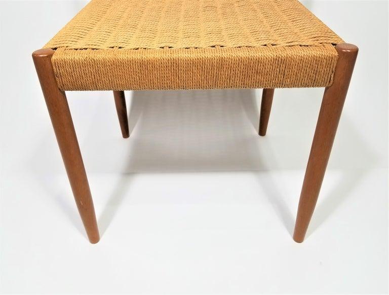 Danish Teak Woven Chair Midcentury For Sale 4