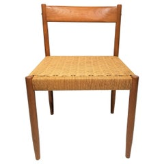 Danish Teak Woven Chair Midcentury