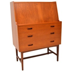 Danish Teak Writing Bureau Vintage, 1960's