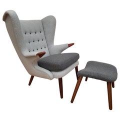 "Danish ""Teddy Bear"" Armchair by Svend Skipper, 1960s, Completely Restored"