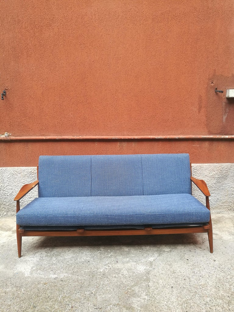 Danish three-seat sofa with armrests, 1960s