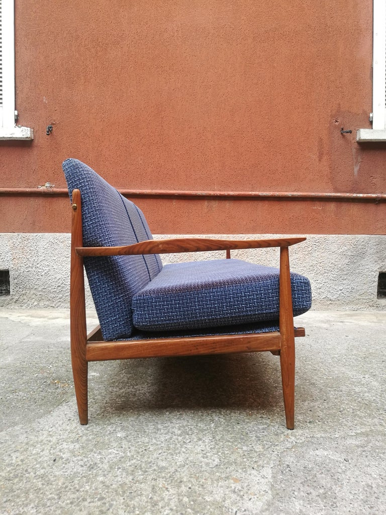 Mid-Century Modern Danish Three-Seat Sofa with Armrests, 1960s For Sale