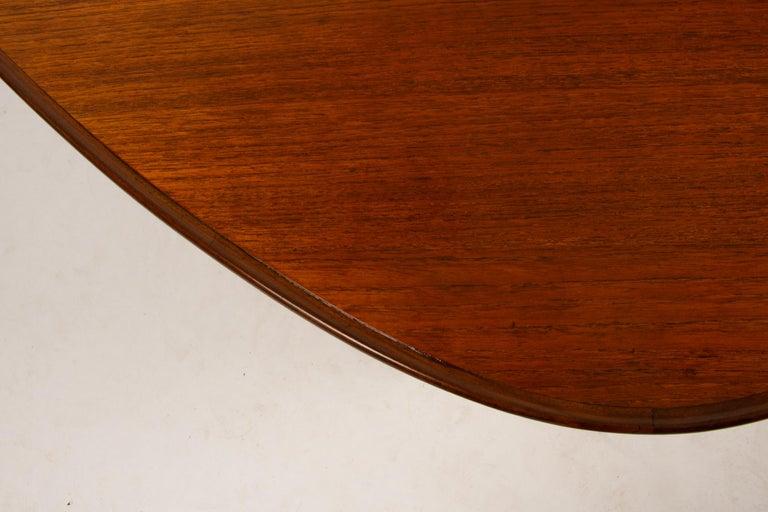 Danish Triangular Teak Coffee Tablel, 1950s For Sale 9