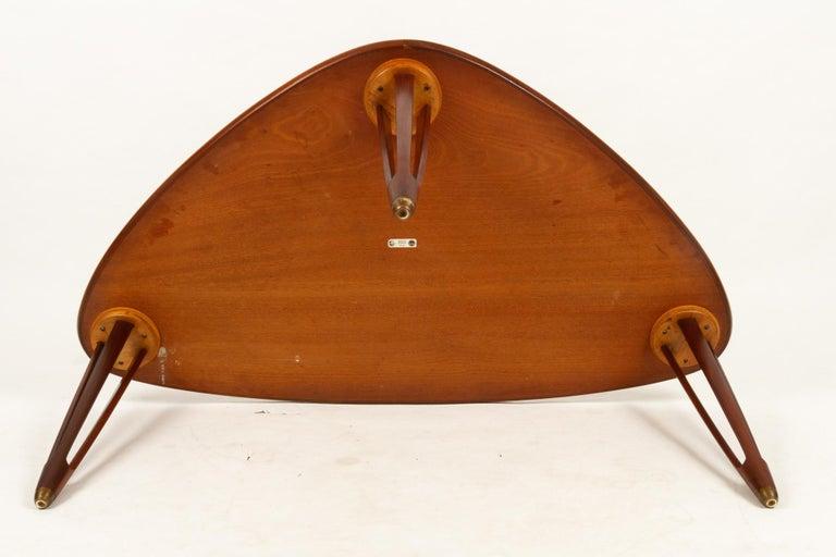 Danish Triangular Teak Coffee Tablel, 1950s For Sale 11
