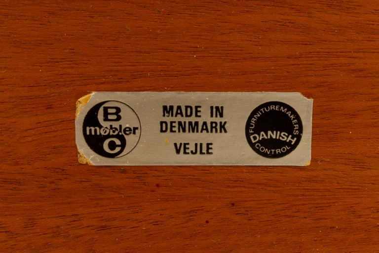 Danish Triangular Teak Coffee Tablel, 1950s For Sale 13