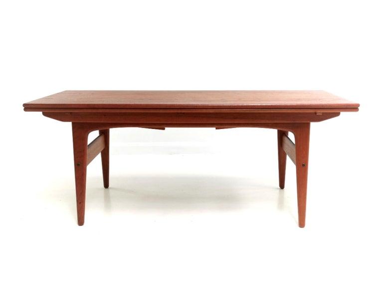 Mid-Century Modern Danish Trioh Teak Metamorphic Dining Coffee Table Midcentury, 1960s For Sale