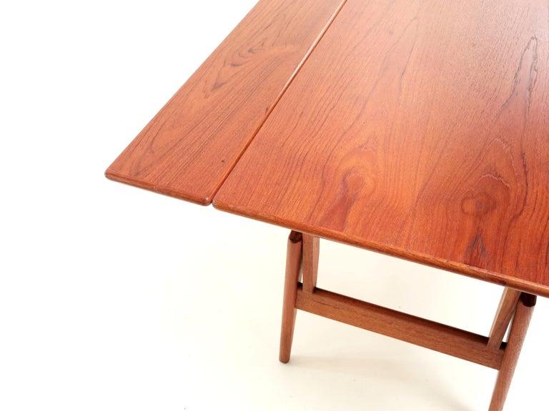 20th Century Danish Trioh Teak Metamorphic Dining Coffee Table Midcentury, 1960s For Sale