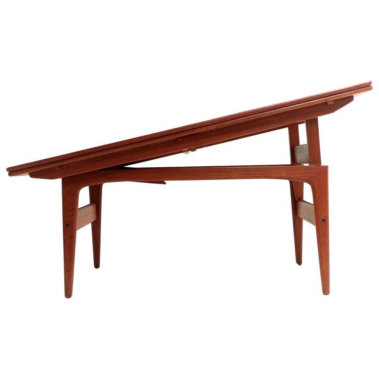 Danish Trioh Teak Metamorphic Dining Coffee Table Midcentury, 1960s For Sale
