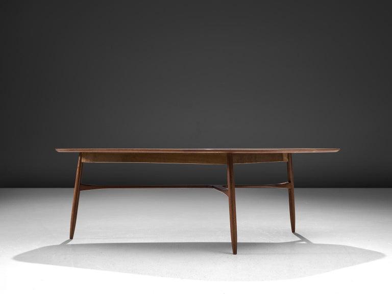 Mid-20th Century Danish Tripod Coffee Table in Teak For Sale