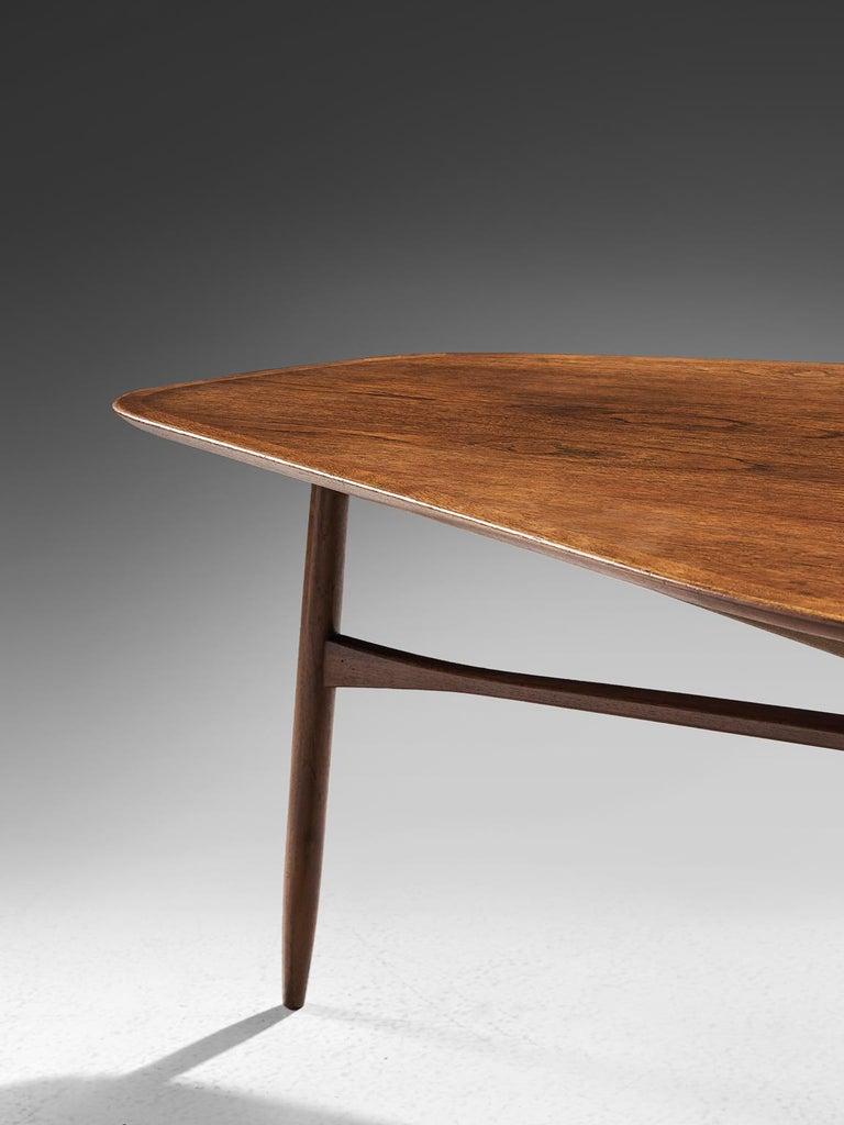 Danish Tripod Coffee Table in Teak For Sale 1