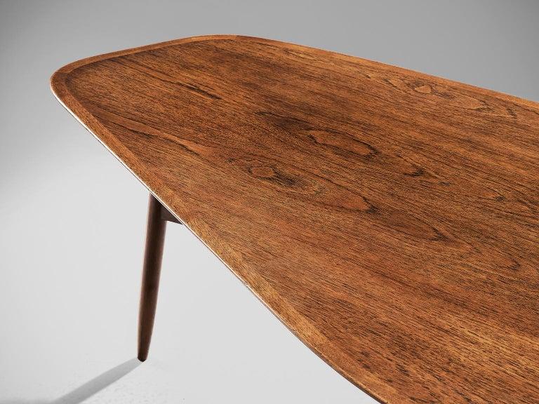 Danish Tripod Coffee Table in Teak For Sale 2