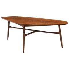 Danish Tripod Coffee Table in Teak