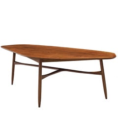 Danish Tripod Coffee Table in Teak