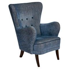 Danish Upholstered Armchair, circa 1940s