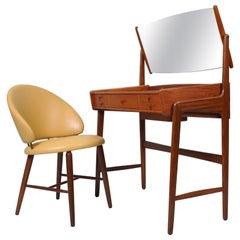 Danish Vanity Table and Chair, Svend Aage Madsen