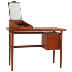 Danish Vanity Table or Desk in Teak by Kurt Østervig, Denmark